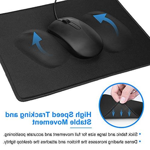 MROCO Mouse Pads Premium-Textured Waterproof bulk with Stitched Laptop, & 11 3mm, 3 Pack,