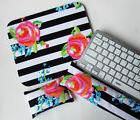 Mouse PAD MousePad - wrist and keyboard rest set - black whi