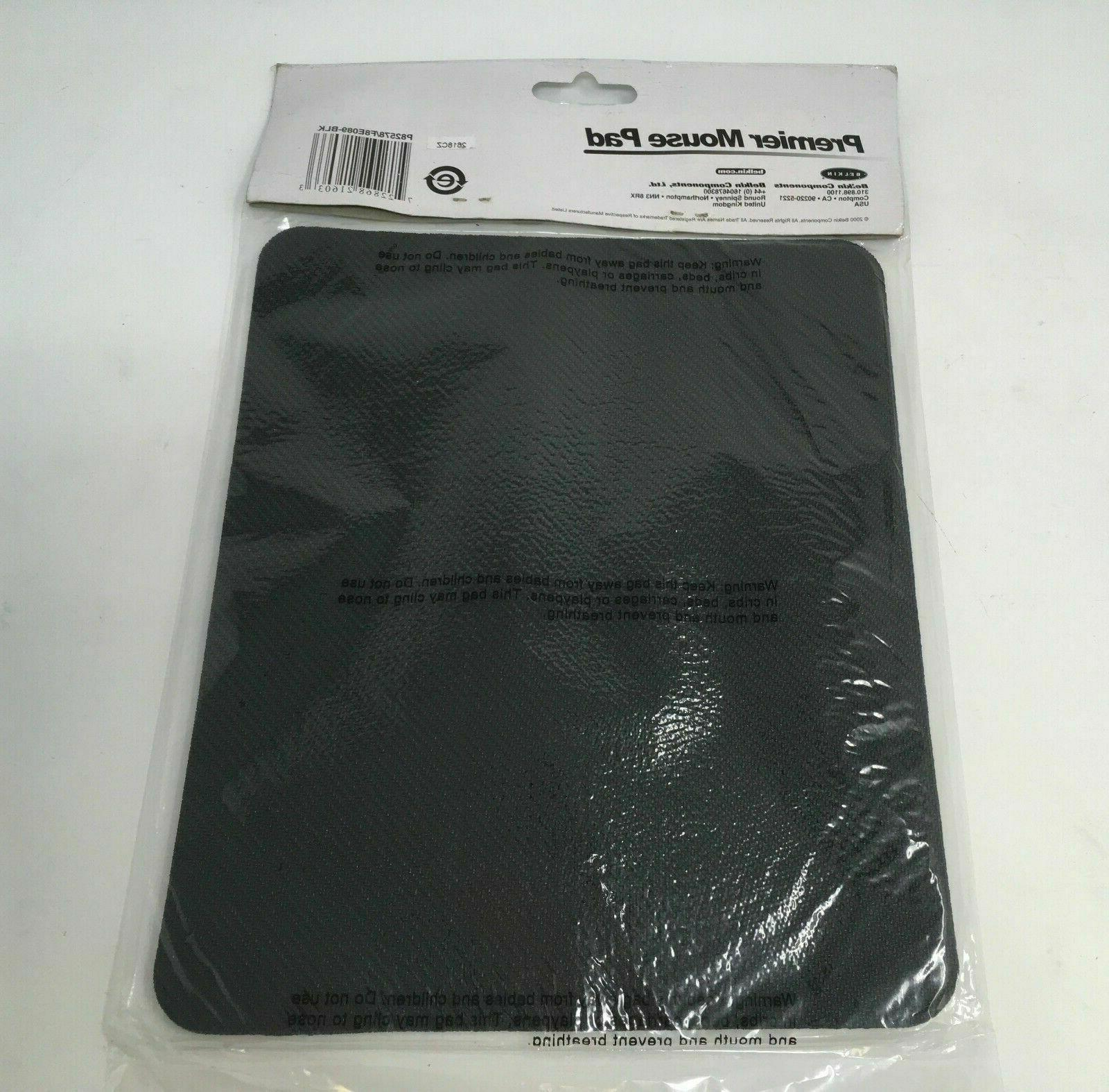 BELKIN PAD MOUSEPAD WITH CLOTH NON-SLIP BLACK NEW
