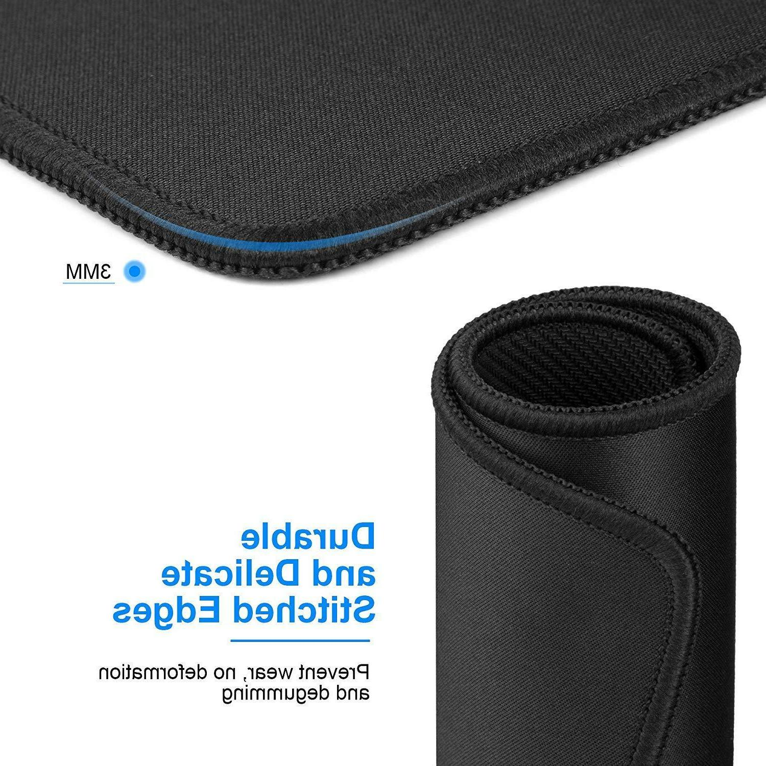 Mouse Pads With Non-Slip Rubber Base, Premium-Textured & Waterproof