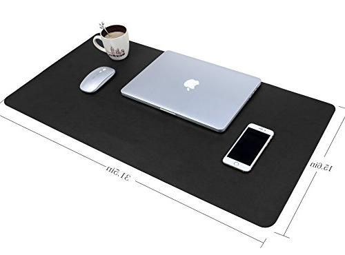 "Multifunctional Office Pad, 31.5"" x YSAGi Ultra Leather Pad, Dual Use Desk"