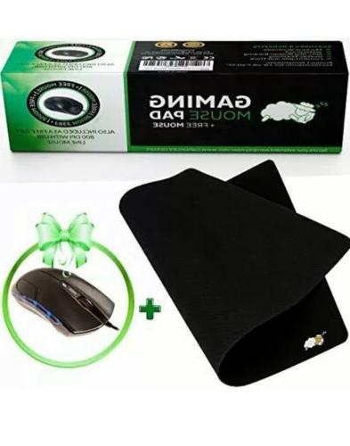 new cushioncare large gaming mouse pad black