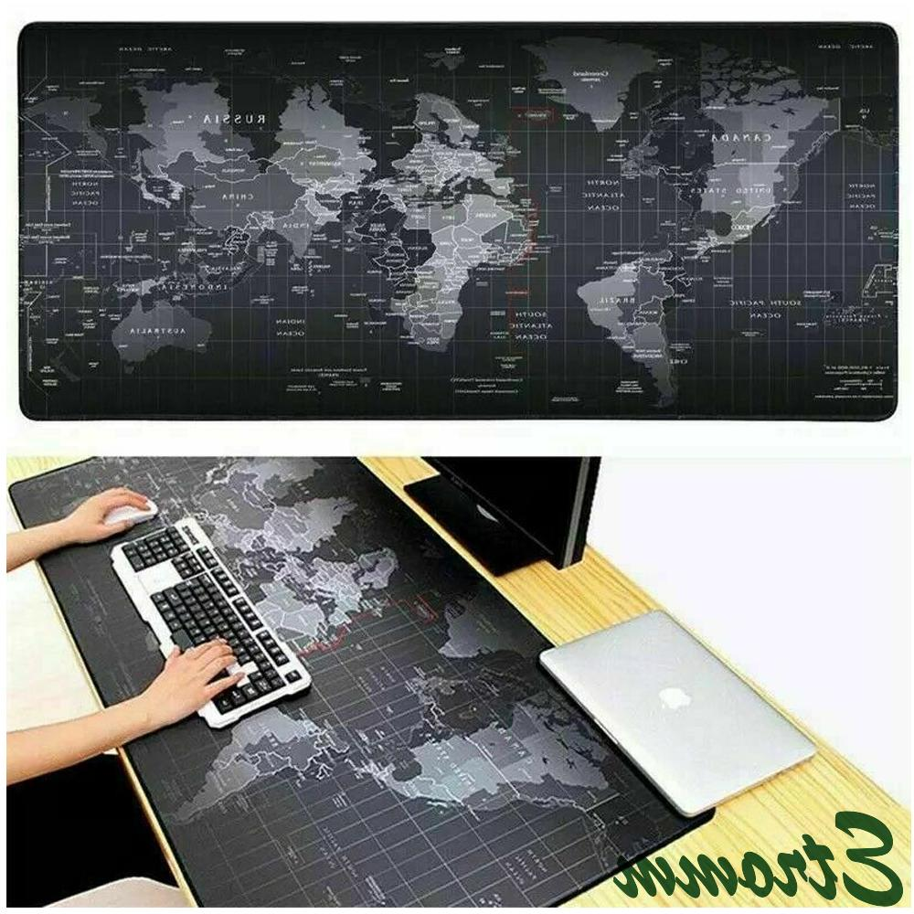 new extended gaming mouse pad desk keyboard