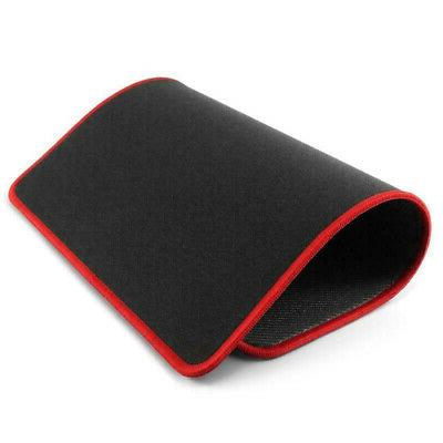 non slip mouse pad stitched edge red