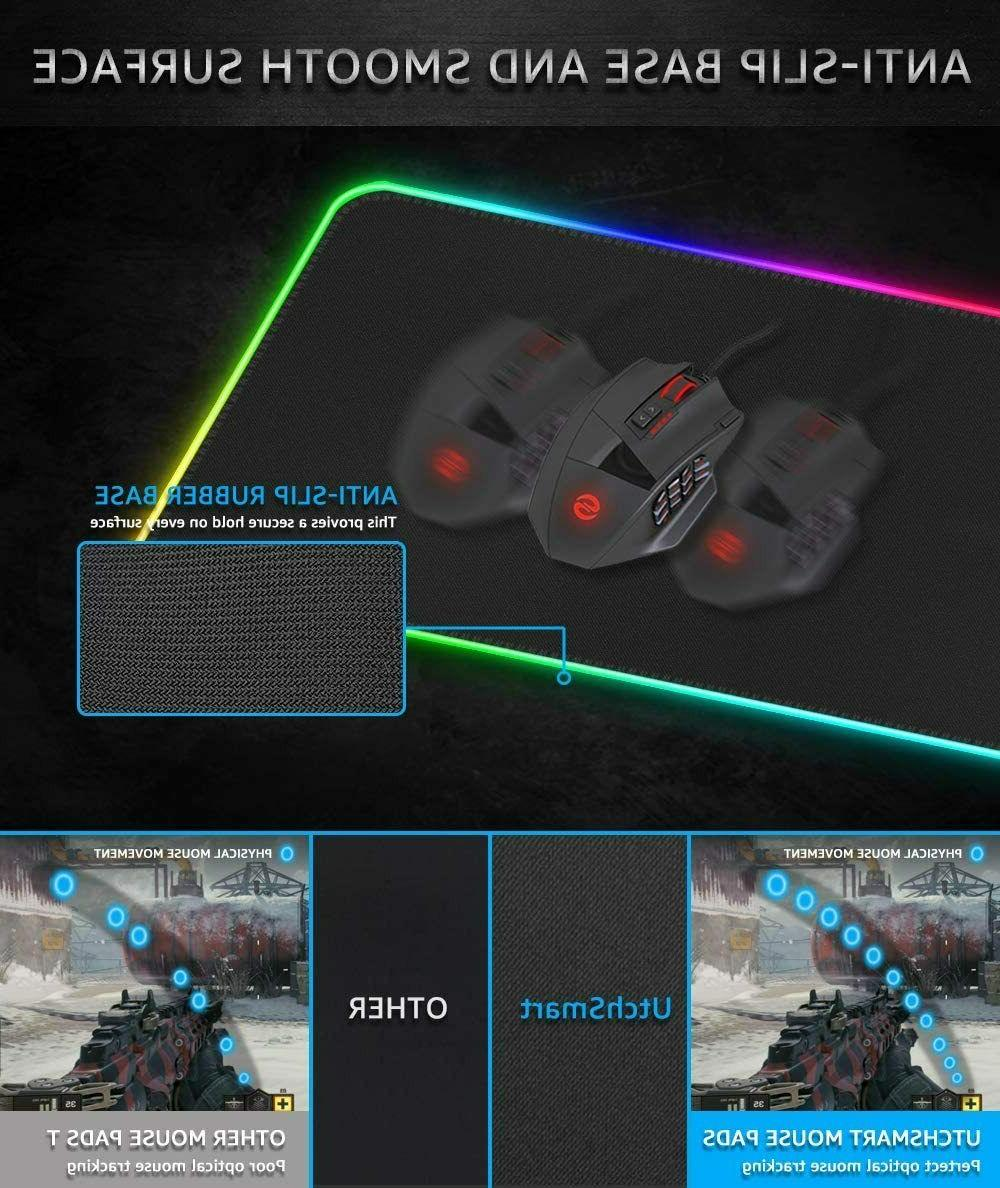 RGB Mouse Pad,UtechSmart Large Mouse with14Lighting
