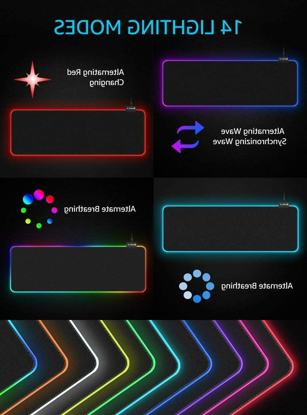 RGB Gaming Mouse Pad,UtechSmart Large Mouse