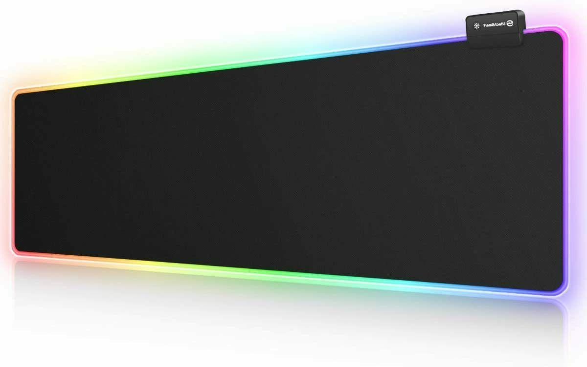 rgb gaming mouse pad large extended soft