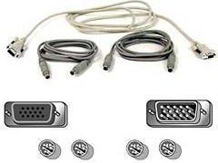 Belkin Pro Series Omniview PS/2 Cable Kit A3X982 Mouse VGA M