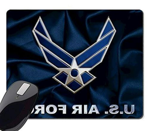 Wknoon US Air Force Personalized Custom Gaming Mousepad Rect