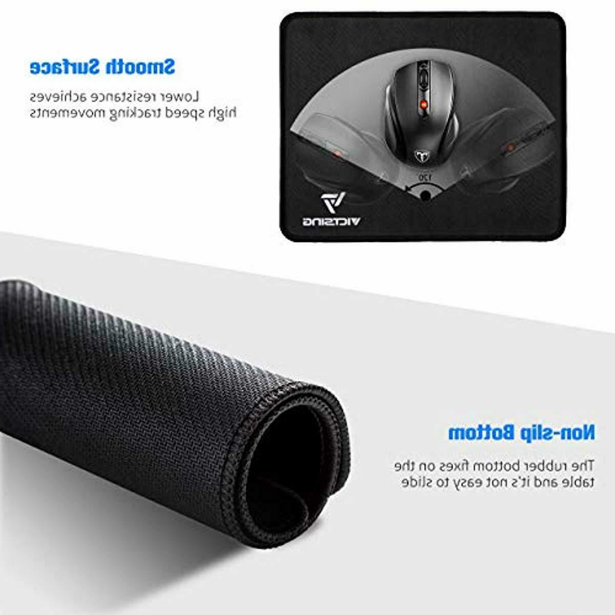 VicTsing Mouse Pad with Stitched Edge, Premium-Textured Mous