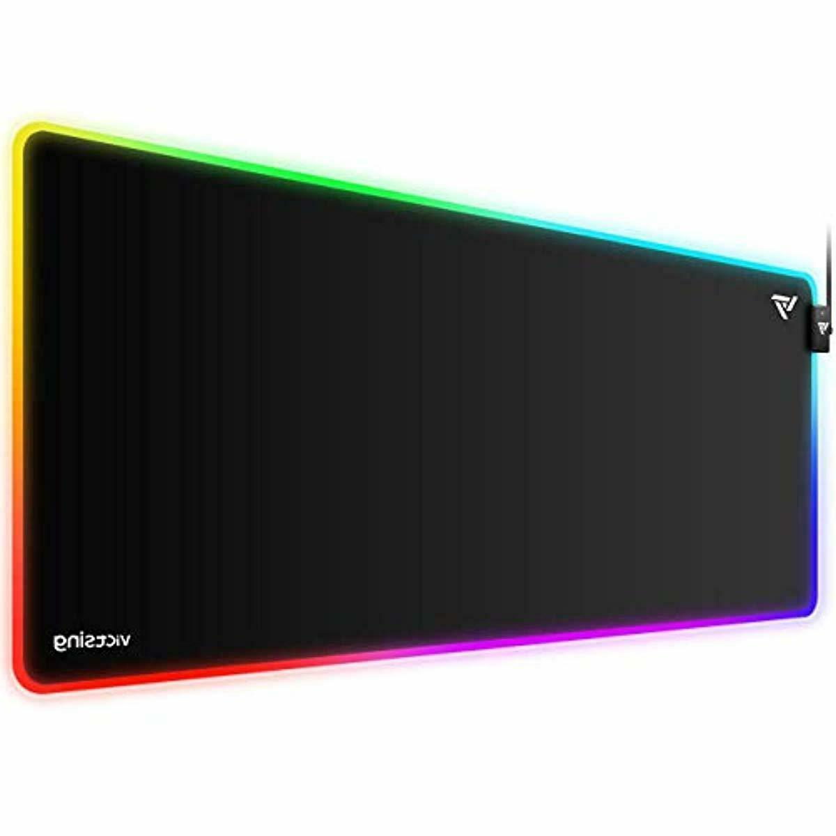 victsing rgb gaming mouse pad 12 lighting
