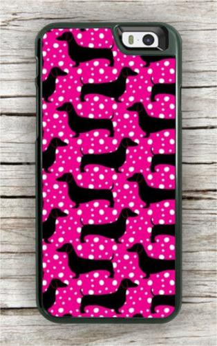 vintage dachshund pink case for iphone 7