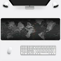 Large 30x80cm Gaming World Map Mouse Pad Anti Slip Computer
