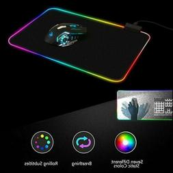 Newly RGB Colorful LED Lighting Gaming Mouse Pad Mat for PC