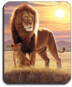 Lion and Cub Mouse Pad - By Art Plates
