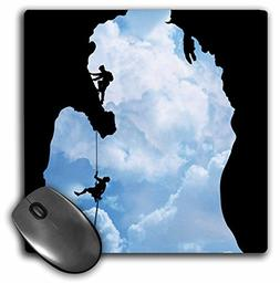 3dRose LLC 8 x 8 x 0.25 Inches Mouse Pad, Michigan Climbers