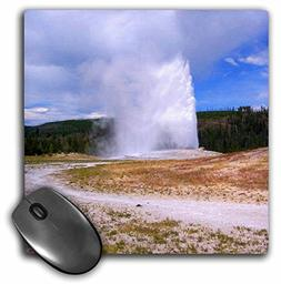 3dRose LLC 8 X 8 X 0.25 Inches Old Faithful Geyser Yellowsto