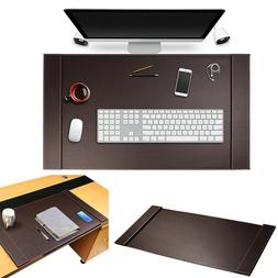 Luxury Leather Home Office Desk Blotter Protector Mouse Pad