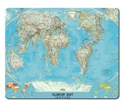 Map World Land Ocean Continent Mouse Pads Customized Made to
