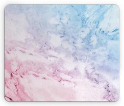 Ambesonne Marble Mouse Pad, Pastel Toned Cloudy Hazy Crack L