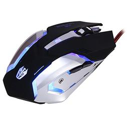 JUDYELC Mechanical feel Mouse USB Wired Professional Laptop