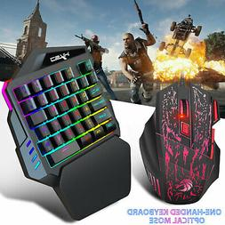 35 Keys One-Handed Game Gaming Keyboard Mouse Keypad For LOL
