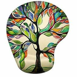 Memory Foam Mousepad with Wrist Support, Tree of Life Gorgeo