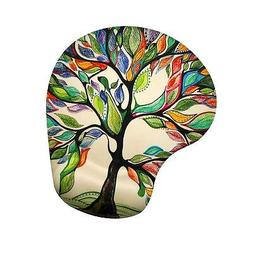 Apottwal Memory Foam Mousepad with Wrist Support, Tree of Li