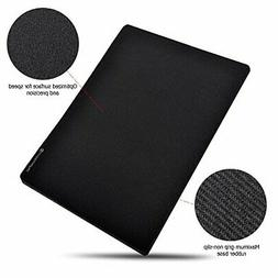 "Micro Mouse Pad Small 8""x 6"" Black Non-Slip Rubber Base Mous"