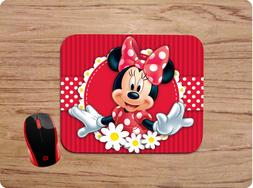 MINNIE MOUSE DAISY DESIGN1 CUSTOM MOUSE PAD MAT COMPUTER HOM