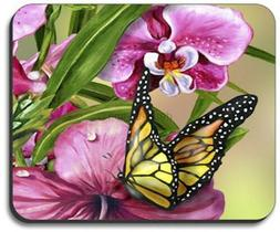 Monarch & Flowers Mouse Pad - By Art Plates