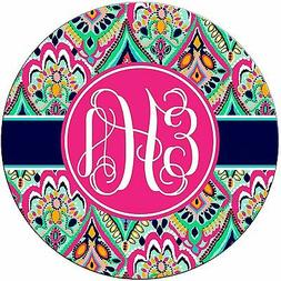 Monogrammed Mouse Pad - Boho HIpster Hippy Chevrons Personal