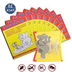 10 PACK/Mouse Glue Boards,Sticky Traps for Mice,Large Rat Gl