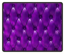 Mouse Mat Purple Leather Texture Pattern Mouse Pad 11.8X9.8