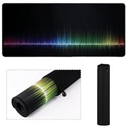 XL Mouse Pad, Extended Gaming Rainbow Mouse Pad/Extended Des