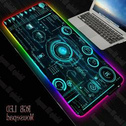 mouse pad abstract gaming rgb rubber mat