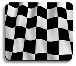 mouse pad art print checkered flag design