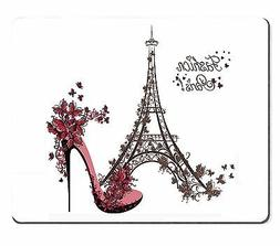 Wknoon Mouse Pad Fashion Paris Abtract Eiffel Tower Sketch A