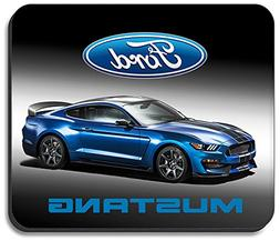 Art Plates brand Mouse Pad - Blue Ford Mustang
