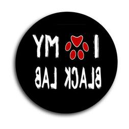 Mouse Pad I Love My Black Lab Dog Pet Paw Heart Labrador 8in
