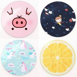 Mouse Pad Round Non Slip Soft Comfortable For Laptop Noteboo