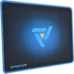 Victsing Mouse Pad with Stitched Edges Non-Slip Rubber Base