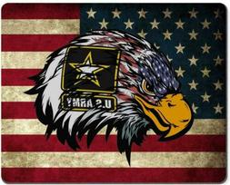 Wknoon Mouse Pad US Army Cool American Flag Eagle Custom Des
