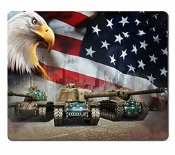 Wknoon Mouse Pad Wallpapers World of Tanks Eagles US Flag Cu