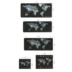Voground Mouse Pad World Map Natural Rubber Material Locking