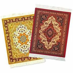 Mouse Pads Rug - 2 Pack Persian Oriental Computer Mousepad D