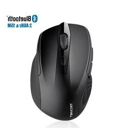 Mouse Wireless 2.4Ghz Bluetooth 2600DPI Rechargeable Slient