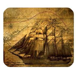Nautical Vintage Sailing Pirate Ship Theme Mouse Pad - Gamer