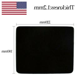 New Black Mouse Mat Mousepad 220*180*1.2mm for Computer Tabl