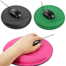 Non Slip Round Mouse Mat Pad With Rest Hand Wrist Support Fo